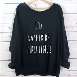 Oversized Thrifting Graphic Sweater Slouchy S-5X